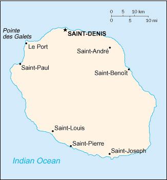 Réunion map