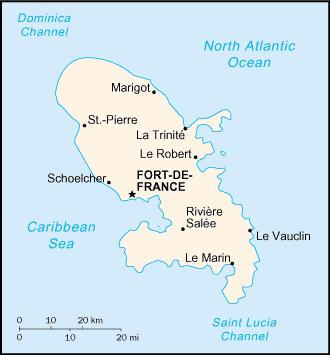 Martinique map