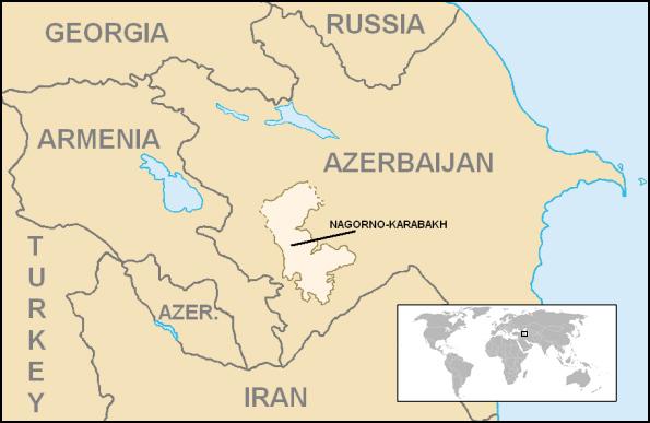 Nagorno Karagakh map